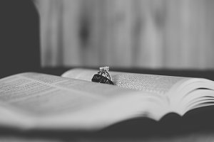 Black & White Wedding Rings in Bible