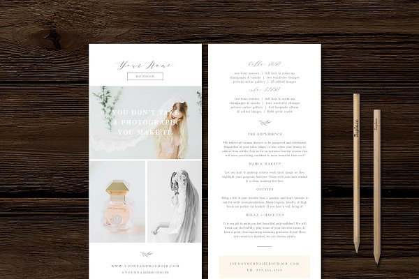 Boudoir Rack Card Template