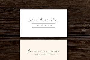 Fine-Art Business Card Template