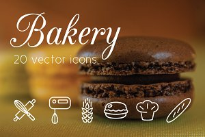 BAKERY - vector line icons