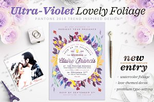 Ultra-Violet Lovely Foliage Card IV