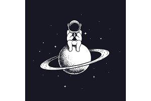 astronaut keeps smartphone