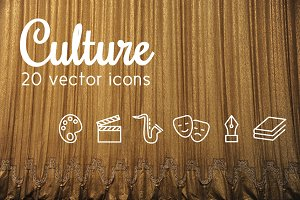 CULTURE - vector line icons
