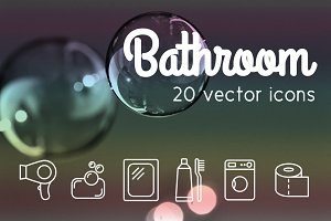 BATHROOM - vector line icons