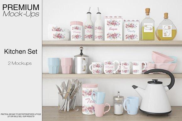 Kitchen Accessories Set-Graphicriver中文最全的素材分享平台