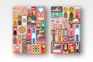 2 options of Pop Art Collage