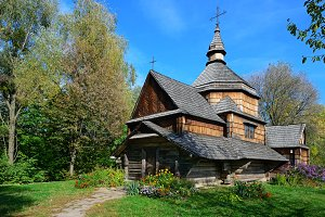 Ancient wooden Slavic church