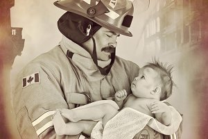 Baby Rescue by Fireman