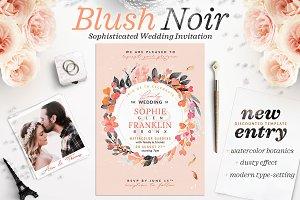 Blush Noir Wedding Invite V