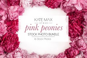 Pink Peonies Stock Photo Bundle