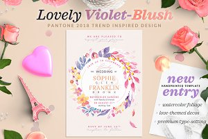 Lovely Violet-Blush Invite I