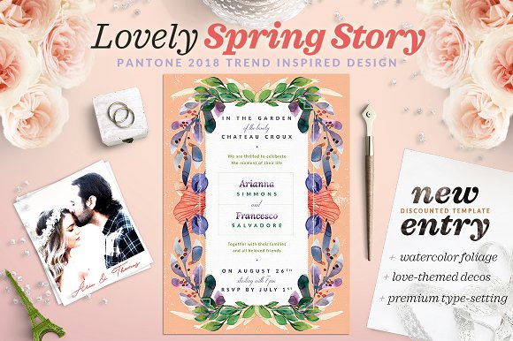 Lovely Spring Story Invite I