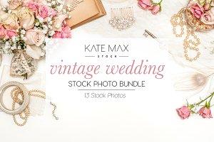 Vintage Wedding Stock Photo Bundle
