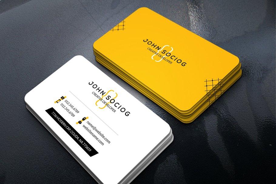 Web Developer Business Card Business Card Templates Creative Market