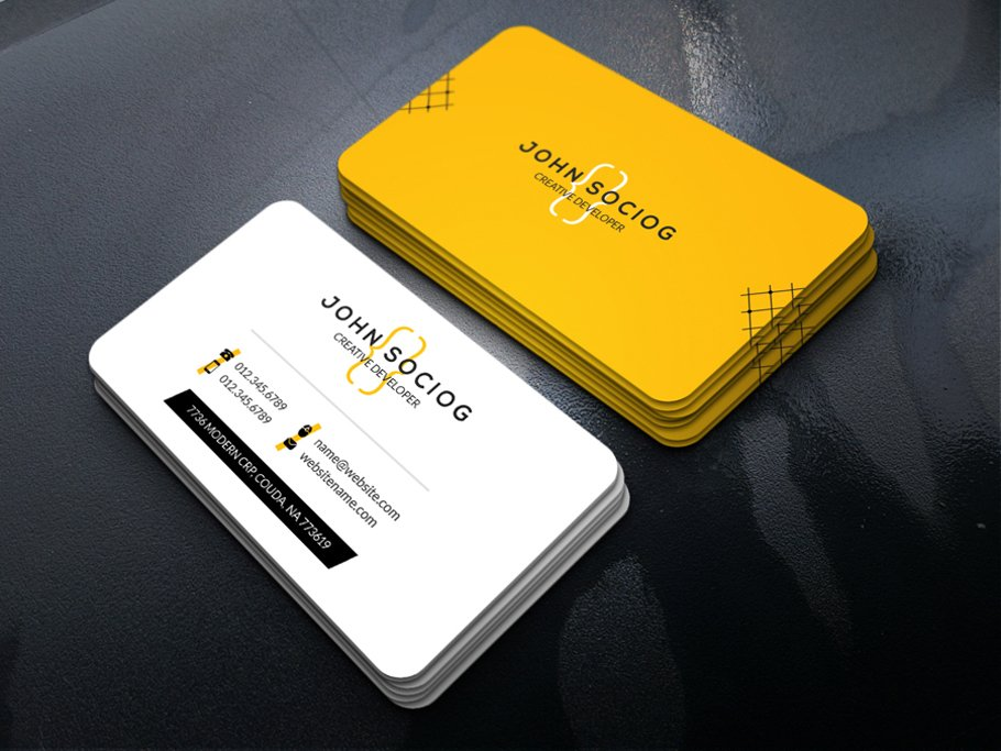 Web Developer Business Card ~ Business Card Templates ~ Creative ...