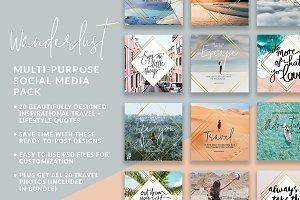 Wanderlust Social Media Pack