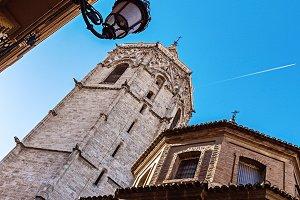 Blue sky, historical buildings.