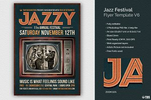 Jazz Festival Flyer Template V6