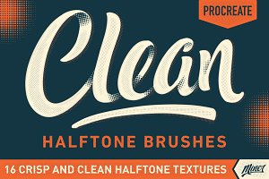 Procreate Clean Halftone Brushes