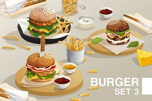 Big Set of Burgers 03
