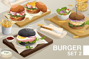 Big Set of Burgers 02