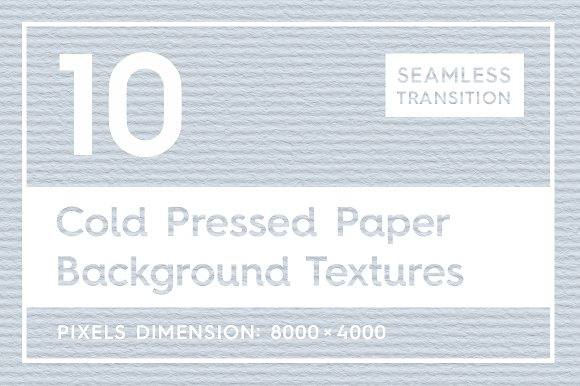 10 Cold Pressed Paper Textures
