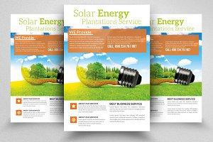 Solar Panel Energy Service Flyers