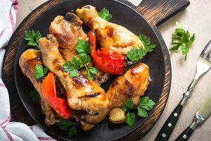 Grilled Chicken drumsticks.
