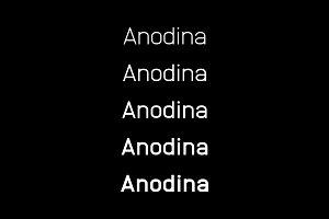 Anodina –Font Family