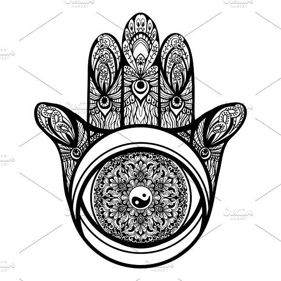Muslim religious hamsa hand