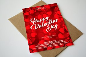 Happy Valentines Day Flyer