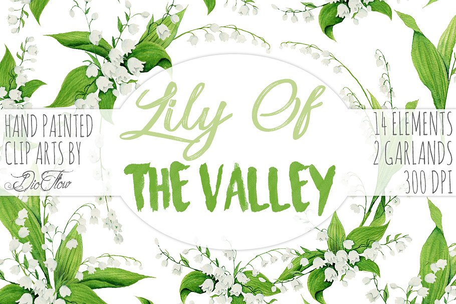 Lily Of The Valley Clip Art in Illustrations - product preview 8