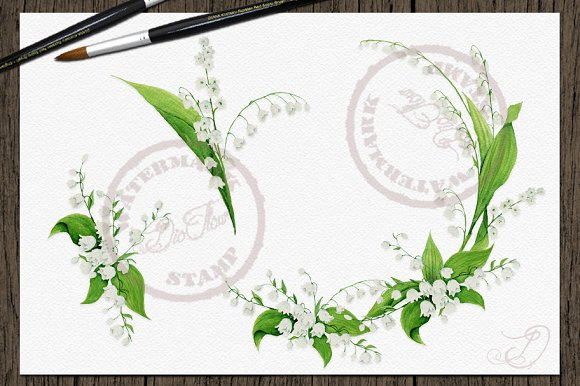 Lily Of The Valley Clip Art in Illustrations - product preview 1