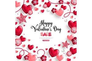 Happy saint valentine's day sale on white