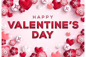 Saint Valentines Day Greeting Card
