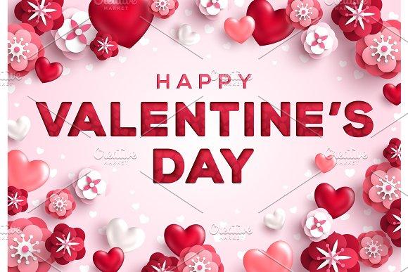Saint Valentines Day Greeting Card ~ Illustrations ~ Creative Market