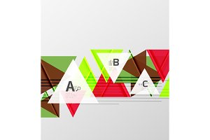Color triangles background design