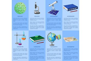 School Subjects Poster with Detailed Information