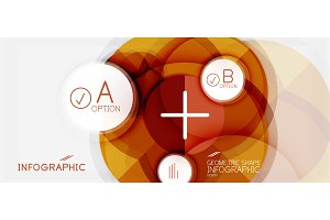 Paper geometric circle banner template
