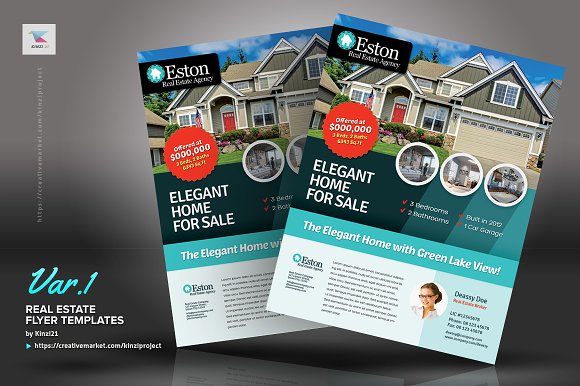 Real Estate Flyer Templates Flyer Templates Creative Market - Real estate brochure templates