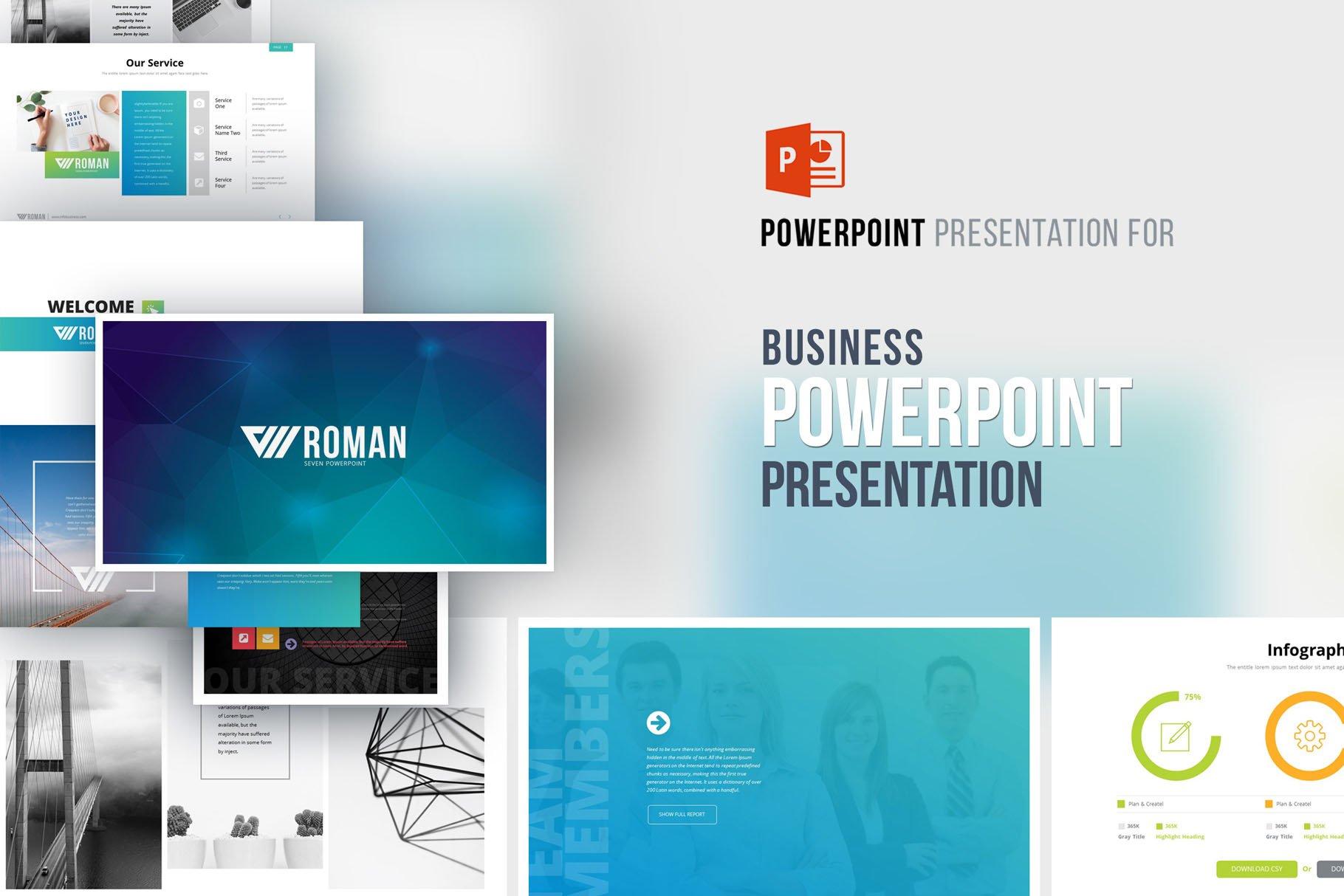 RomanSeven PowerPoint Template ~ PowerPoint Templates