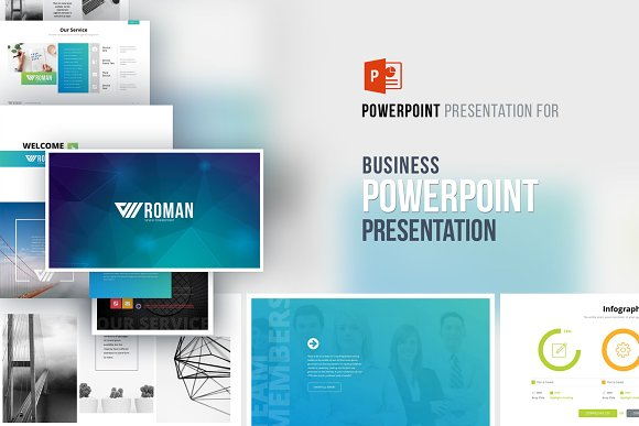 romanseven powerpoint template presentation templates creative