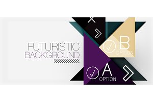 Minimalistic triangle modern banner design, geometric abstract background