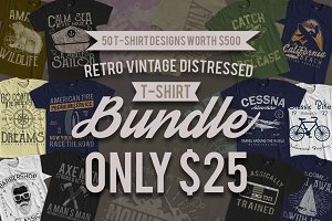 Retro Vintage Distressed Bundle