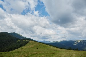 Beautiful mountain nature landscape