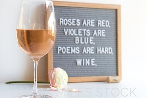 Valentines Wine Stock Photo