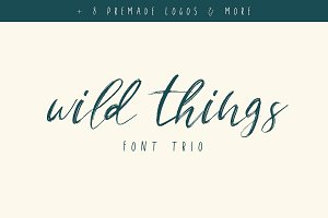 Wild Things Font Trio + Extras