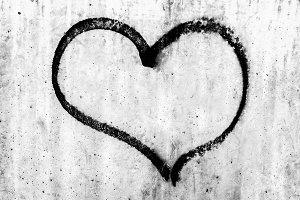 Heart symbol on wall