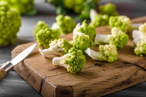 Green cauliflower bio vegetable