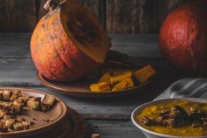 Pumpkin soup delish organic soup